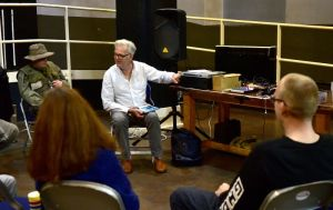 Culture Quest at Norwich Arts Centre. Dave Pullin leading the group. Picture: ANTONY KELLY